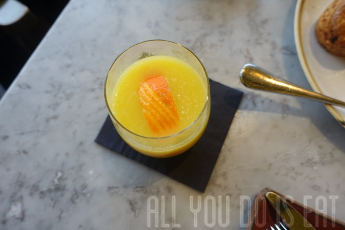 Orange juice at Duck and Waffle