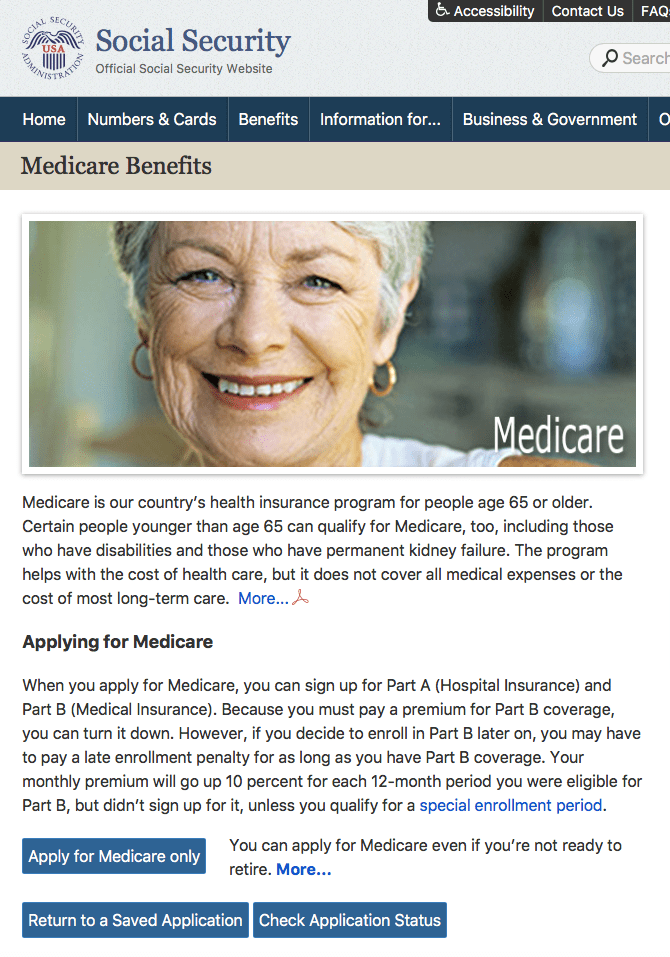 SocialSecurity.gov enroll in Medicare