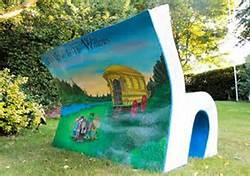Book bench illustrated