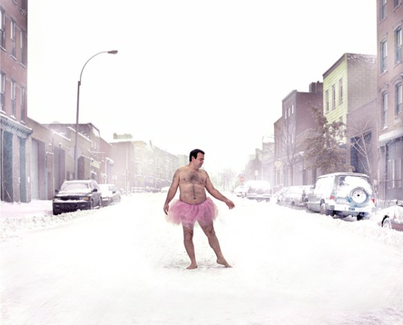 Pink Tutu in the Snow