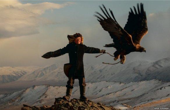 Girl & eagle