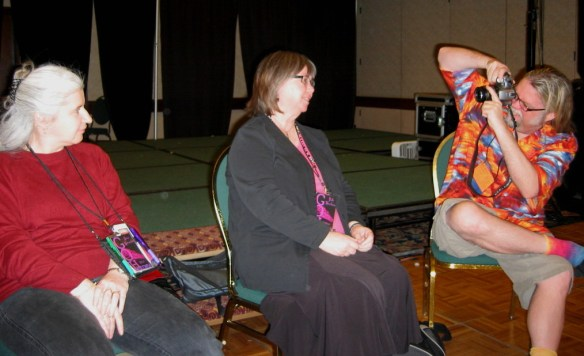 """Alma Alexander and Beath Meachan """"interviewed"""" by Jay Lake, Radcon 2009"""