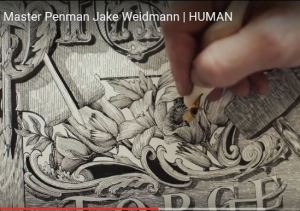 illustration of a master Penman at work