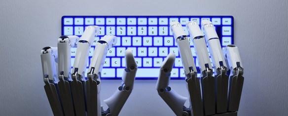 Robot Writing novel illustration