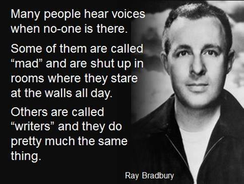 Ray Bradbury quote poster