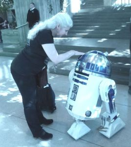 Alma and R2-D2 photo