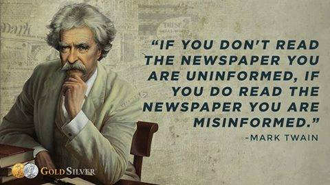 Mark Twain on Newspapers poster