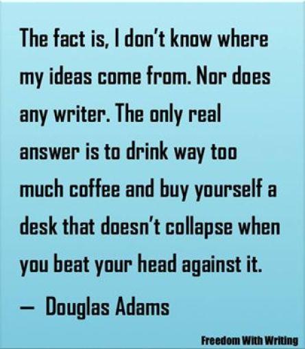 Douglas Adams Ideas poster