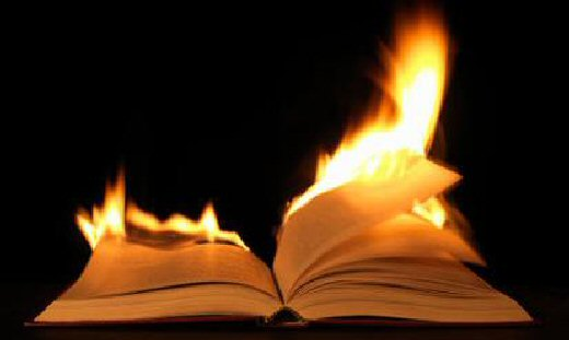 Burning books you'd rescue