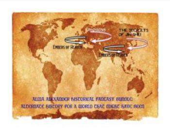 Map where three books were set in Alma's world