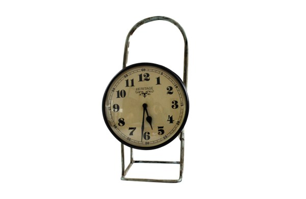 Upcycled Iron Lamp Style Clock (Brown Camo)