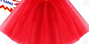 Tutu disfraz rojo