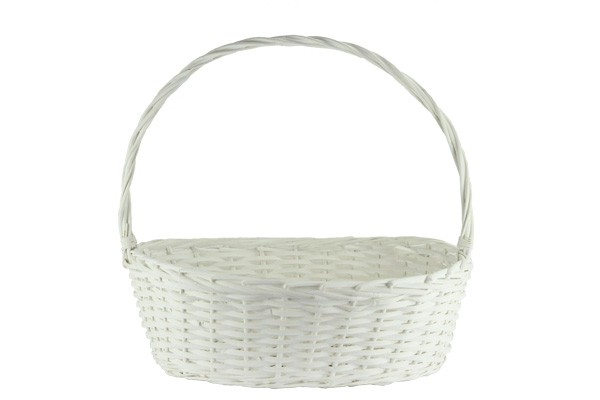 Buy Oval White Baskets With Handle 2693 Series Online