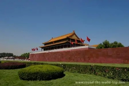 Acesso à Cidade Proibida, uma das principais atracções turísticas de Pequim, China