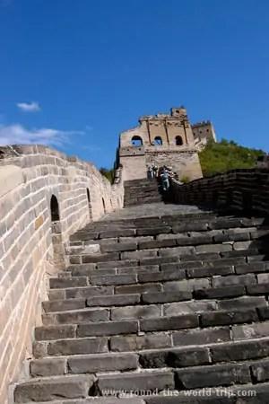 A caminho de Simatai, na Grande Muralha da China