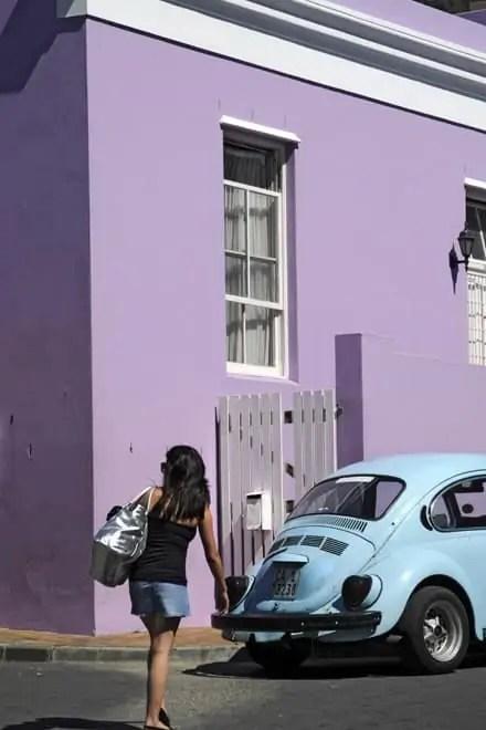 Jogo de cores em Bo-Kaap, Cidade do Cabo