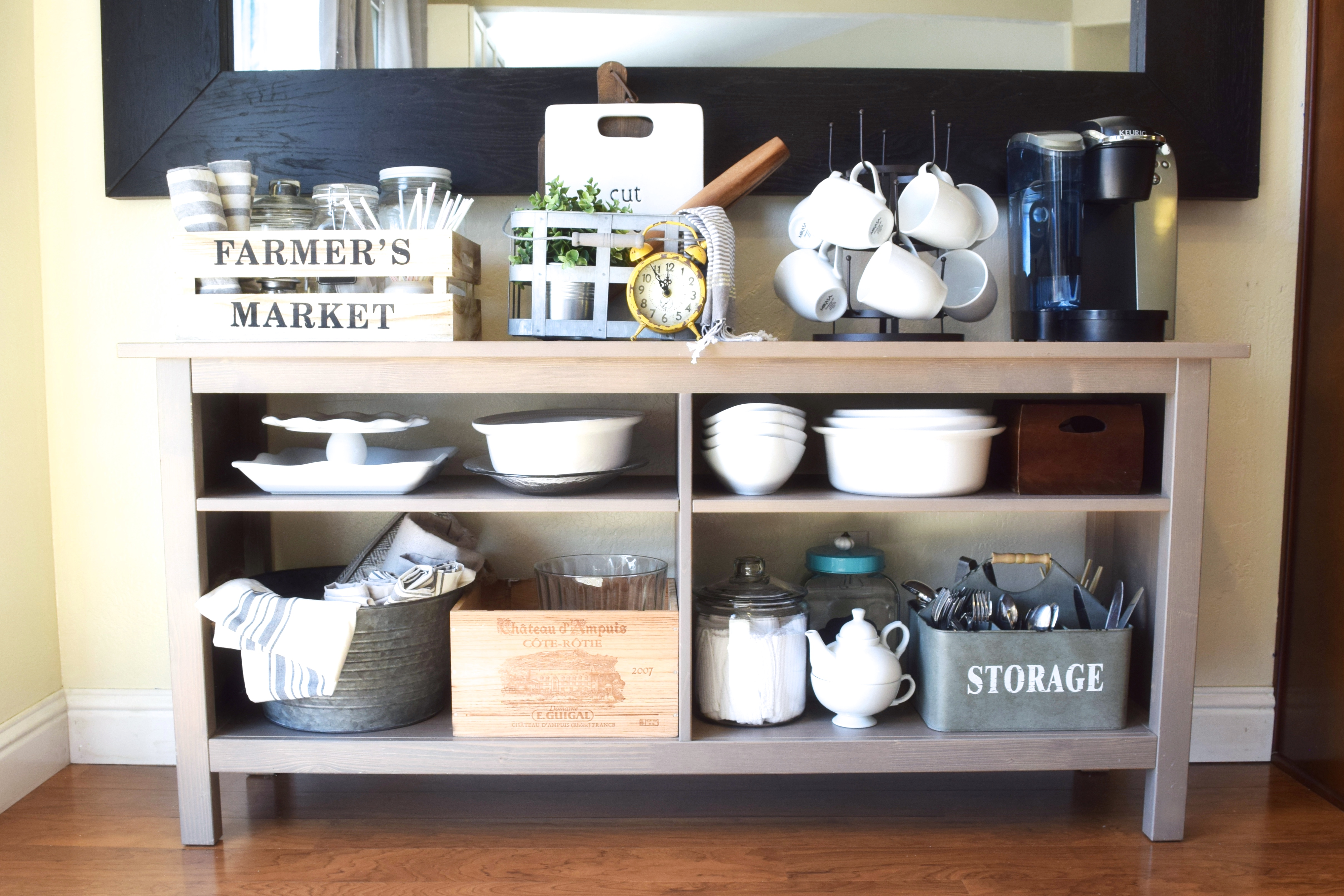 our imperfect repurposed side board ikea hack – almafied
