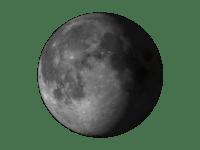 Azalan kambur ay görüntüsü