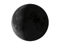 Azalan çeyrek ay görüntüsü