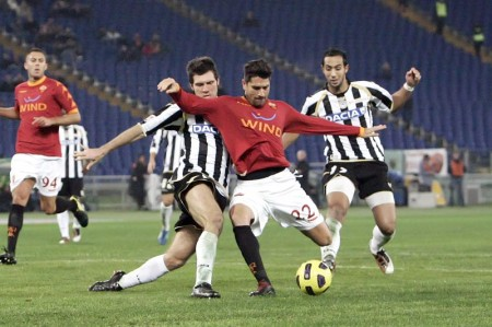 Borriello realizza il 2-1(foto Bertea)