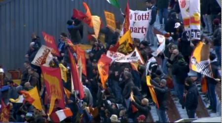 I tifosi romanisti festanti ad Udine