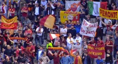 Tifosi romanisti a Torino