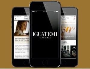 Aplicativo de celular do Iguatemi Alphaville