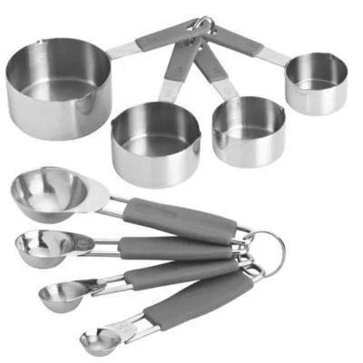 Medidas padrão de xícaras e colheres
