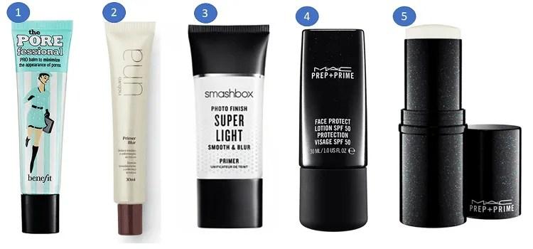 Pré-maquiagem incolor: opções de marcas.