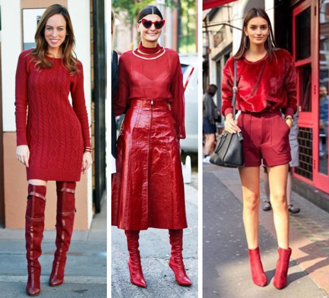 Como usar bota vermelha