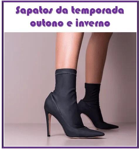 Sapatos da temporada outono e inverno