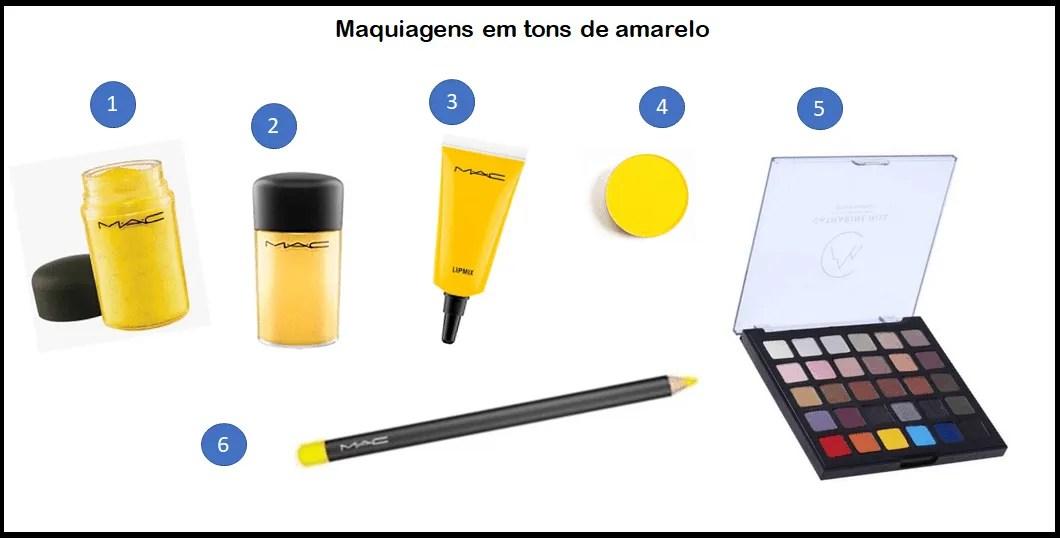 Maquiagens amarelas