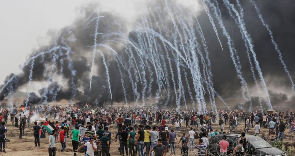 قنابل غاز مسيرات العودة في غزة