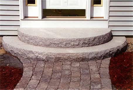 Al S Masonry Customers Love Our Landscaping Stone Masonry Work   Back Door Step Designs   Stone Veneer   Step Down   Paver   Brick   Block Paving Step