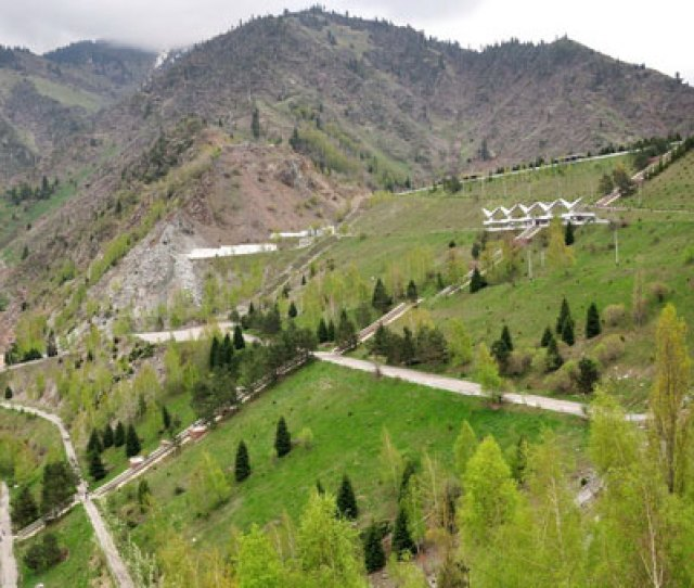 A Little Higher The Gorge There Is The Mud Dam And The Ski Base Chimbulak Which Is Also Very Popular Among Residents Of Almaty By The Way There Is The