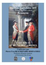 """""""L'art royal au siècle des lumières"""", conférence le 3 novembre 2019"""