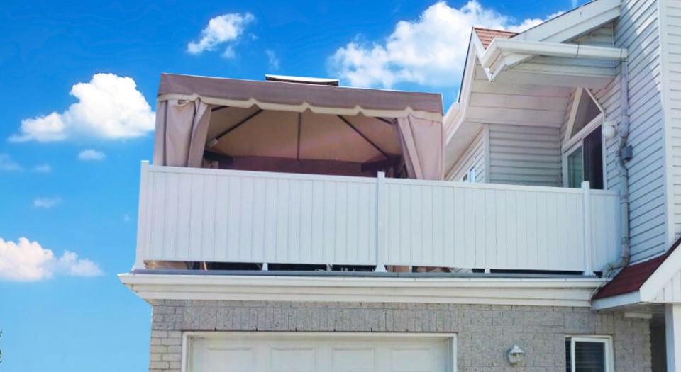 panneau intimite en pvc pour balcons et