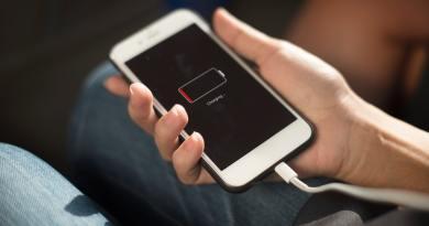 Bateria do celular se esgotando