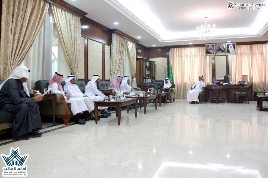 سعادة مُحافظ المذنب يستقبل أعضاء المجلس المحلي بعد صدور قرار سمو وزير الداخلية