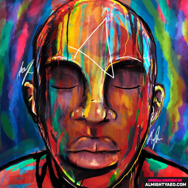 painting of a young mali boy byt he almighty aeophex