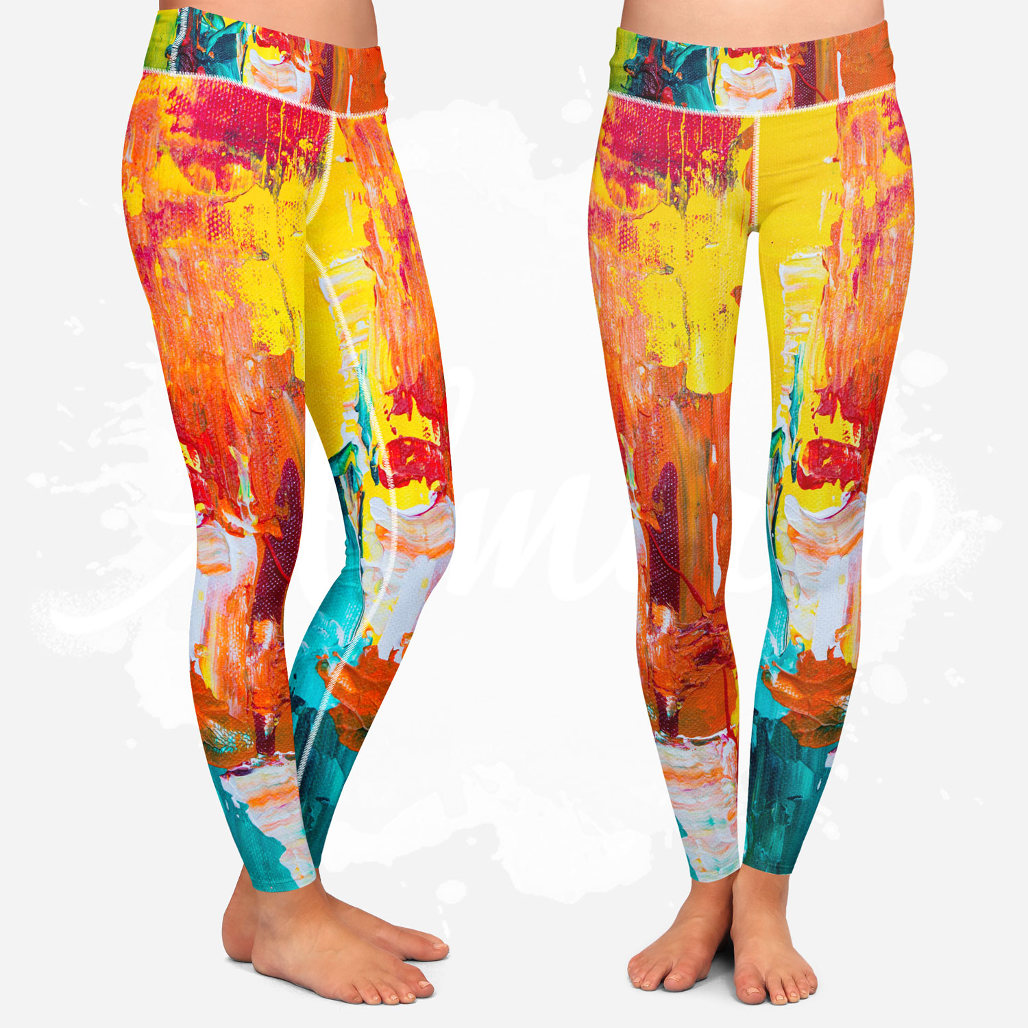 Leggings for women, Almirio, colorful, yoga style