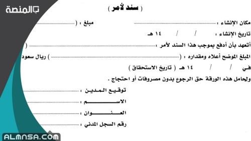 نموذج سند لأمر في السعودية pdf