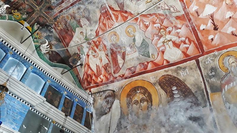 Mănăstirea Theoktistis Ikaria pictură murală