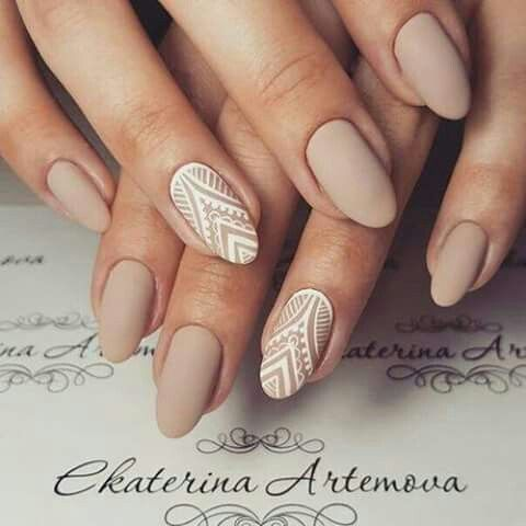 30 of the hottest  must have almond nail designs of 2018
