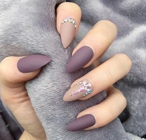 Crystal Nail Design - 30 Of The Hottest & Must Have Almond Nail Designs Of 2018