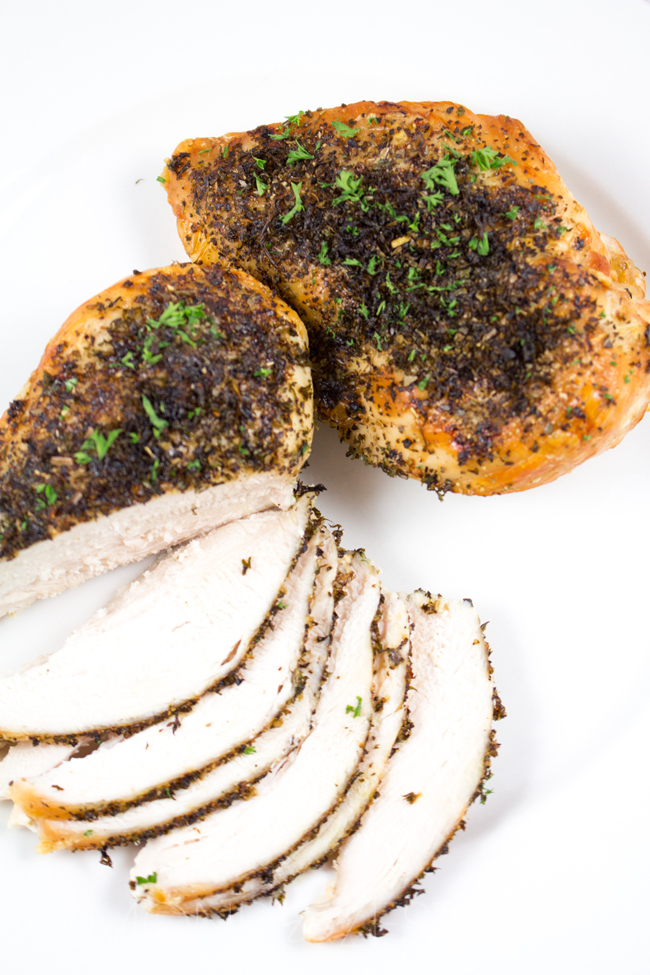 Chicken Breast Ideas - The most quick, easy and BEST way to roast chicken breasts - perfectly tender, packed with flavor and super healthy!!