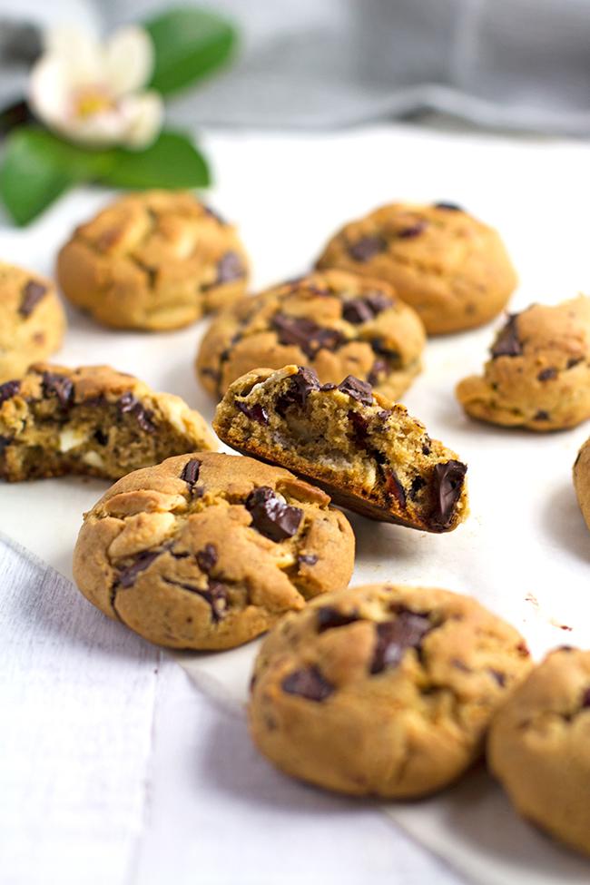 Dark and White Chocolate Cranberry Cookies