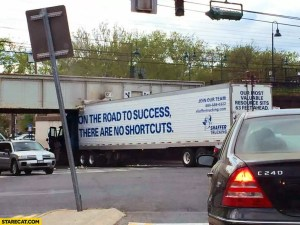 Be careful of shortcuts!