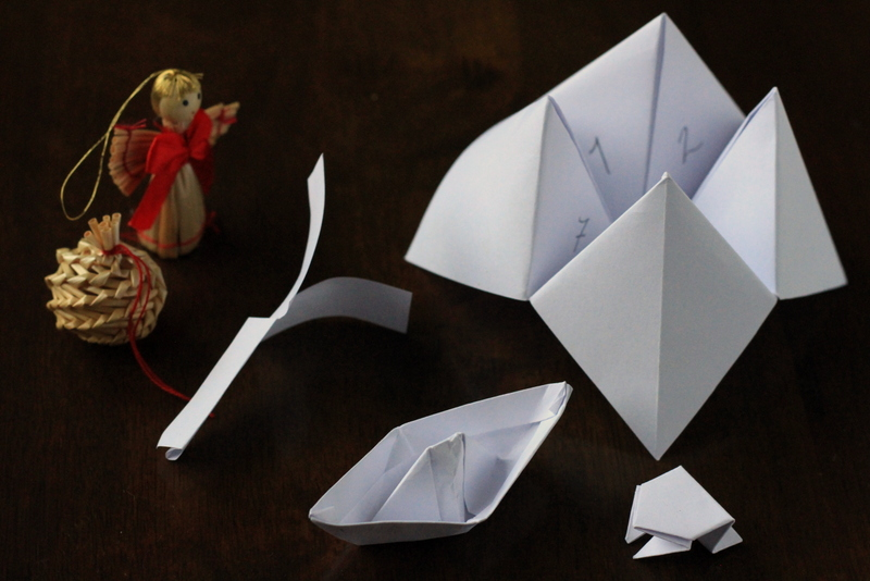 4 Simple Origami Toys from One Piece of Paper
