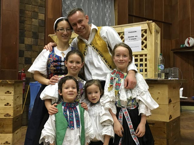 Family photo of us in traditional Slovak dress